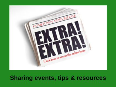 Sharing events, tips & resources