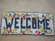photo of hand crafted welcome mat