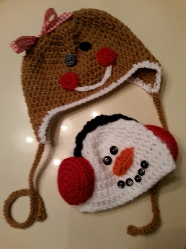 Gingerbread and Snowman Hats