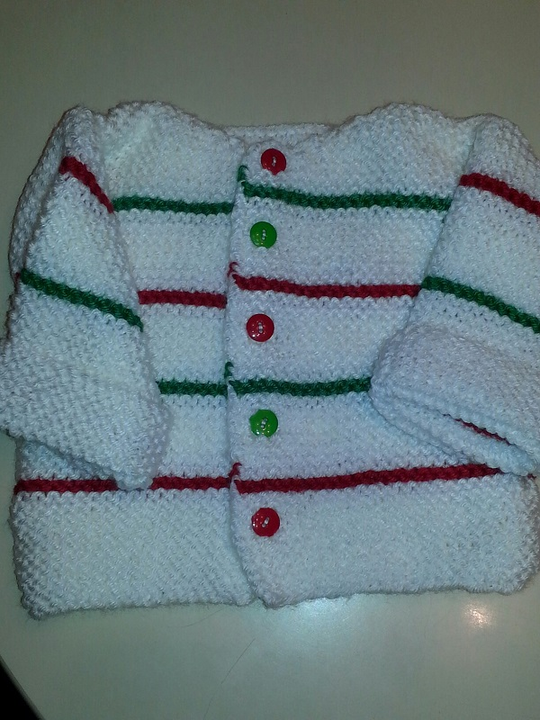 Christmas Stripe Baby Sweater
