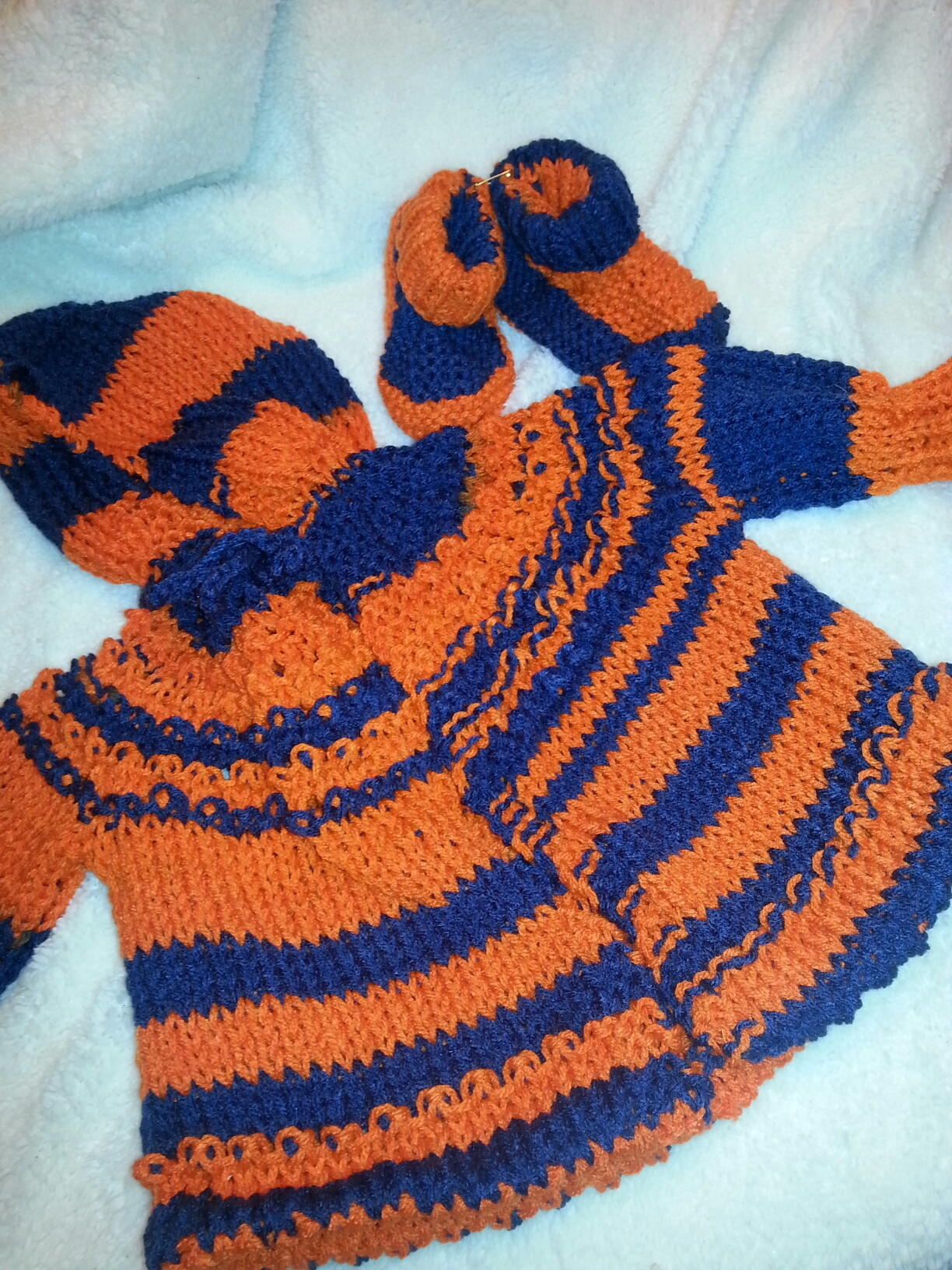 Bronco Hooded Sweater and Booties